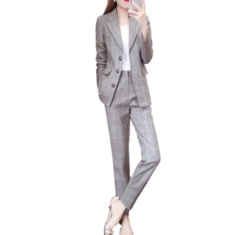 6977b5475f96d Mareya Trade - Plaid suit suit female spring and autumn 2018 New ...
