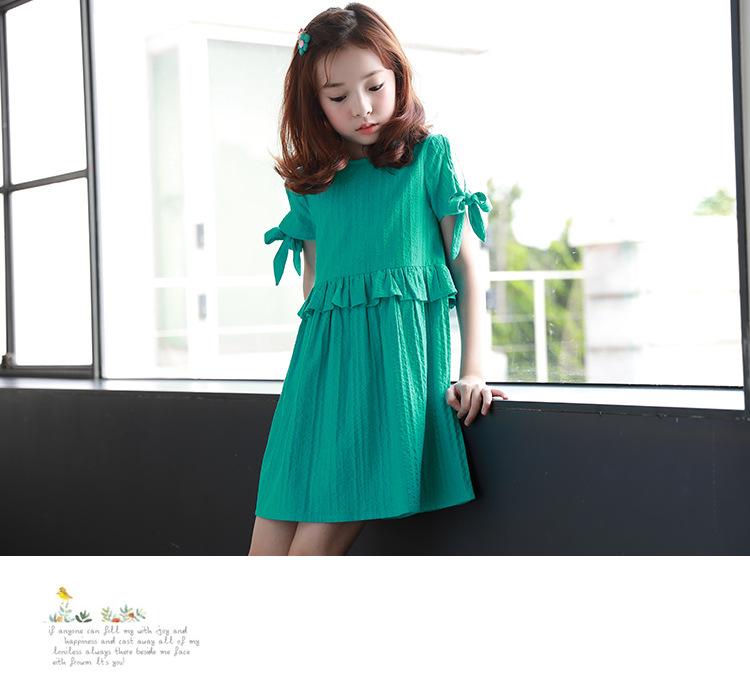 78ab6a81d9b066 ruffles patchwork little big girl dresses cotton summer 2018 green princess  mini kids dresses designs Children Boutique Clothes. Text. Text. Text. Text