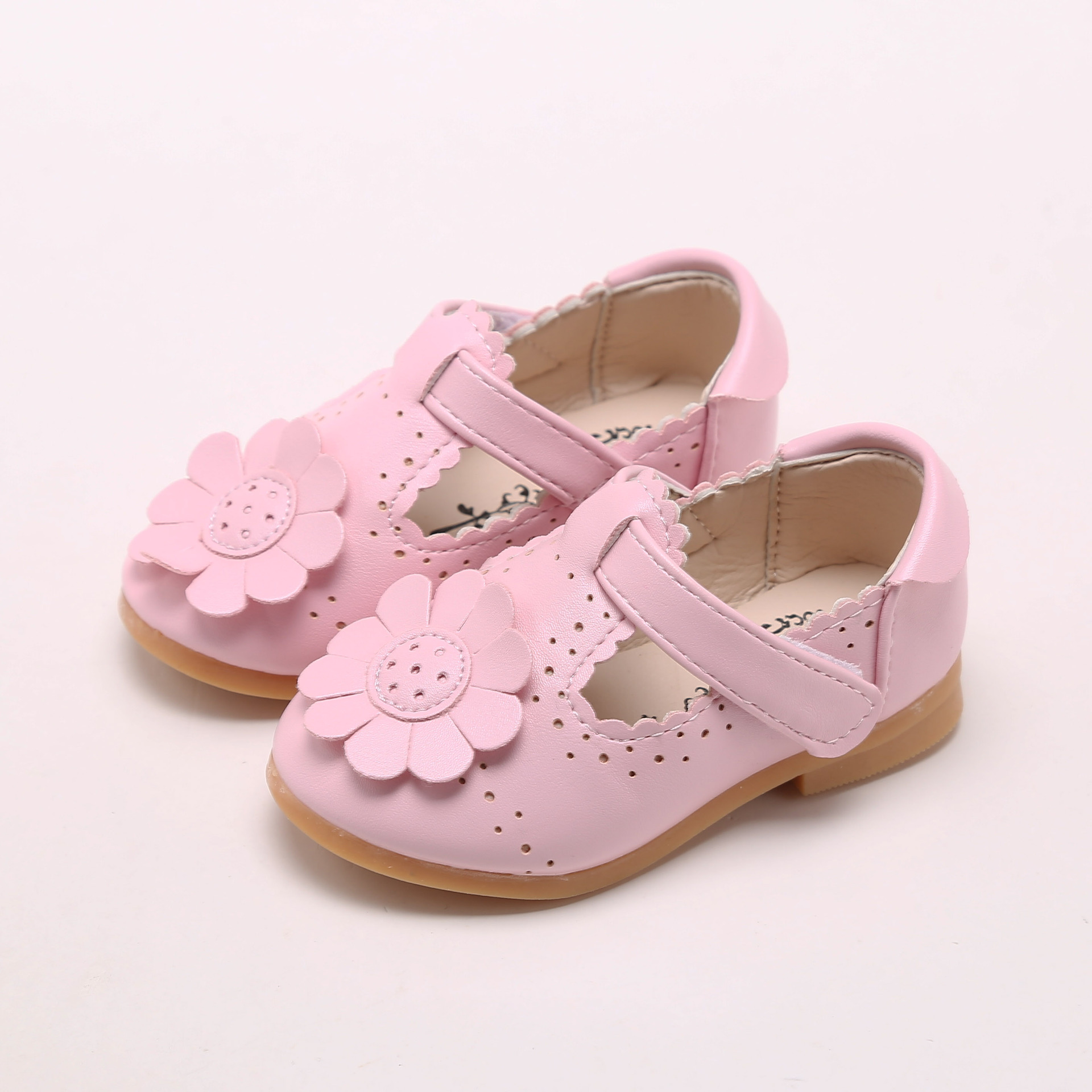Mareya Trade Hitomagic Child Girl Shoe Fashion Flower Leather