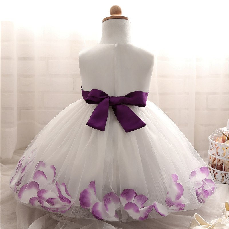 477fc3aa85e Summer Floral Baby Dress For Wedding Party Sleeveless Rose Petal Hem  Christening 1 Years Toddler Girl Birthday Baptism Clothes. Text. Text.  Text. Text. Text