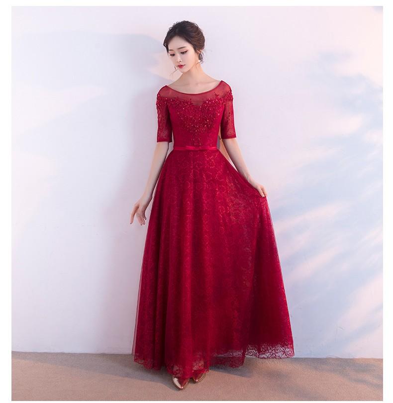 Mareya Trade - PotN\'Patio Burgundy Prom Dresses Long A-line Floor ...