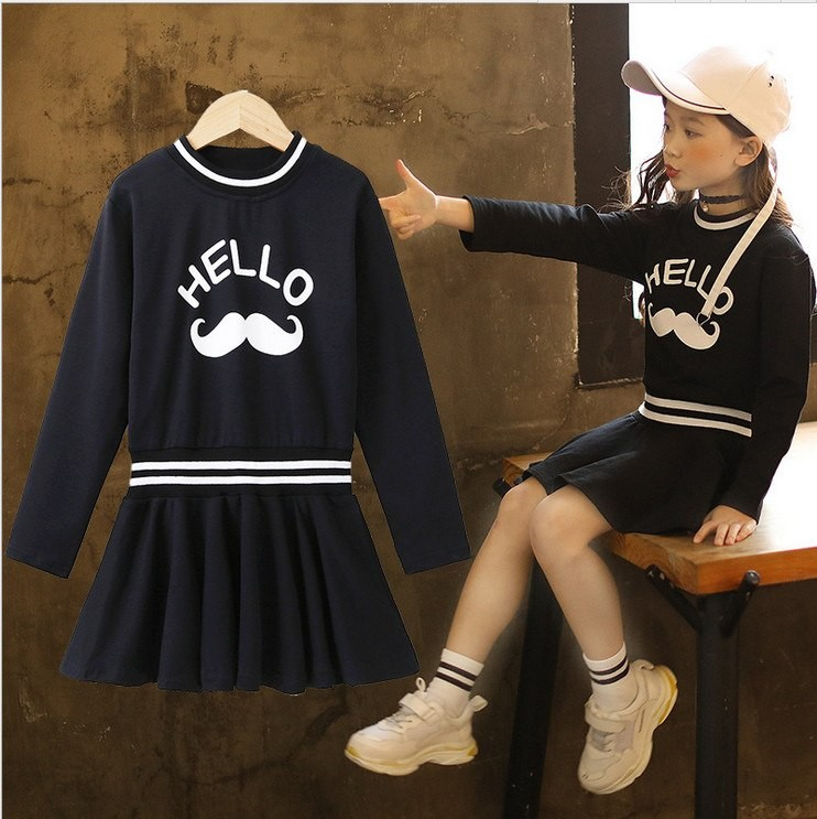 5794cacb2978 Mareya Trade - 4-14y Girl Letter Dress 2018 New Kids Cotton Dresses ...