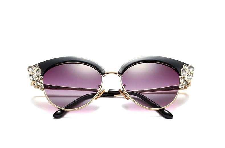 2531f12f17 Ralferty Royal Cat Eye Glasses Frames Women Rhinestone Prescription Optical  Eyeglass Frame Black Vintage Eyewear Oculos F97329