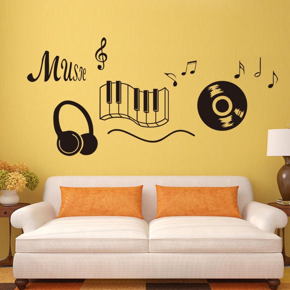 Mareya Trade - 9227Music sheet music English classroom wall stickers ...