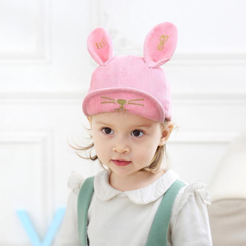 e3d66282c76 Baby girl cute ear corner baseball cap child rebound summer adjustable sun  hat child hip hop hat Adjustable Snapback Toddler