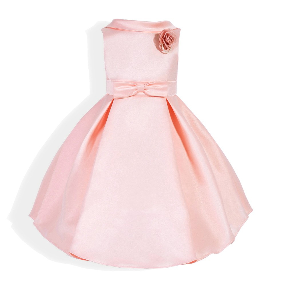 dc99e626a6d Cute Kids Elegant Sleeveless Girl Rose Dress O-Neck Flower Princess Ball Gown  Dress Clothes For Kids 2 to 6 Years Old Kids