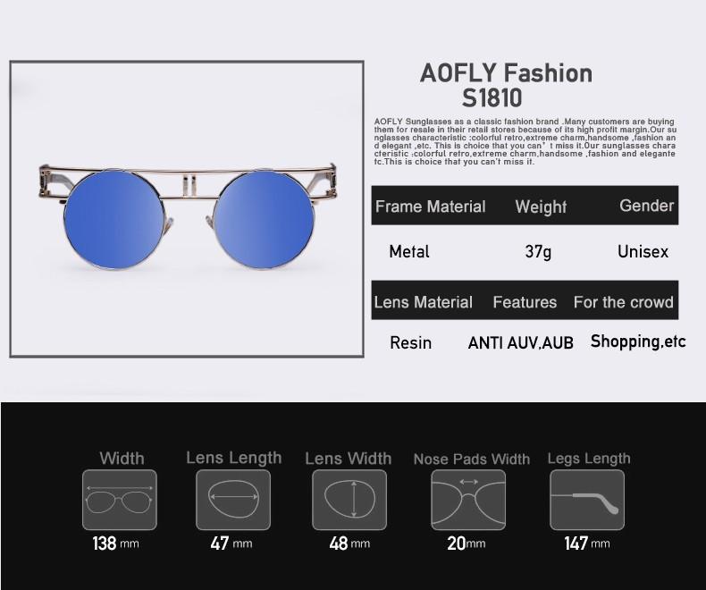 68263d6f54e36 AOFLY Fashion Metal Frame Steampunk Sunglasses Women Brand Designer Unique  Men Gothic Sun glasses Vintage Oculos De Sol Feminino. Text. Text. Text.  Text