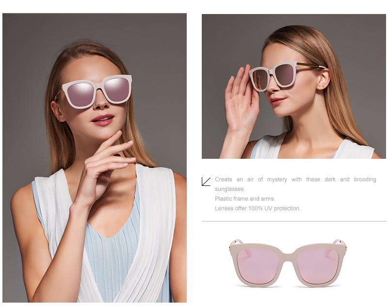 7a278969b801c Donna Sunglasses Polarized Women Square Mirrored Plastic Frames Sun Glasses  Woman Eyeglasses Oversizded D08. Text. Text