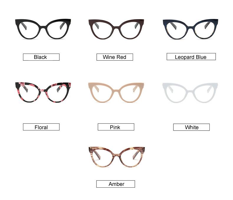 25ce13a7597 Ralferty Eyewear Frame Women Cat Eye Eyeglass Transparent Clear  Prescription Glasses Frames Optical Retro Spectacles F92111. Text. Text.  Text
