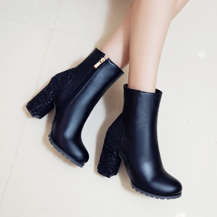 451cf58f49b2 ... red bling glitter boots block high heels woman ankle boots warm plush  women shoes size 48. Text. Text. Text. Text. Text. Text. Text. Text. Text.  Text