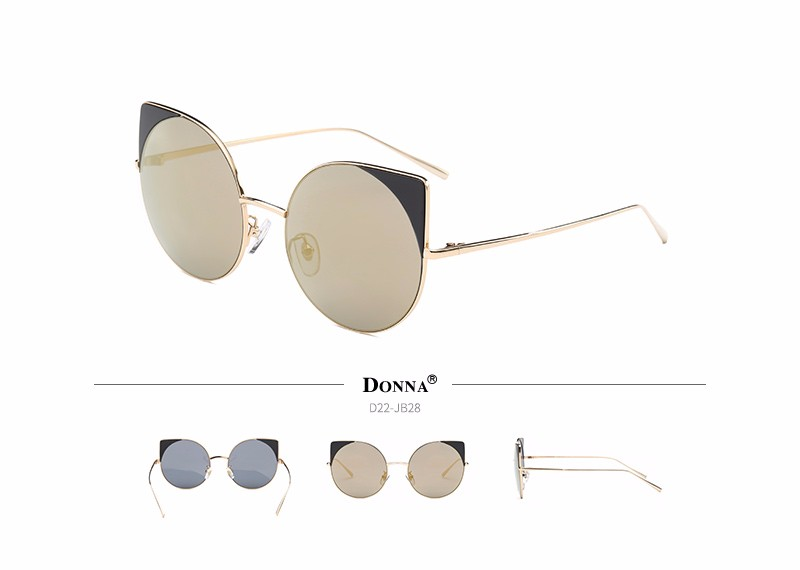 9c70f692f2f Donna Oversized Cat Eye Sunglasses Women Round Mirror Gold Rose Frame  Oversized Mirror Sun Woman Fashion HD Lens Glasses D22. Text. Text. Text.  Text. Text