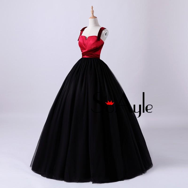 Mareya Trade - SoAyle Black Prom Dresses Ball Gown Spaghetti ...