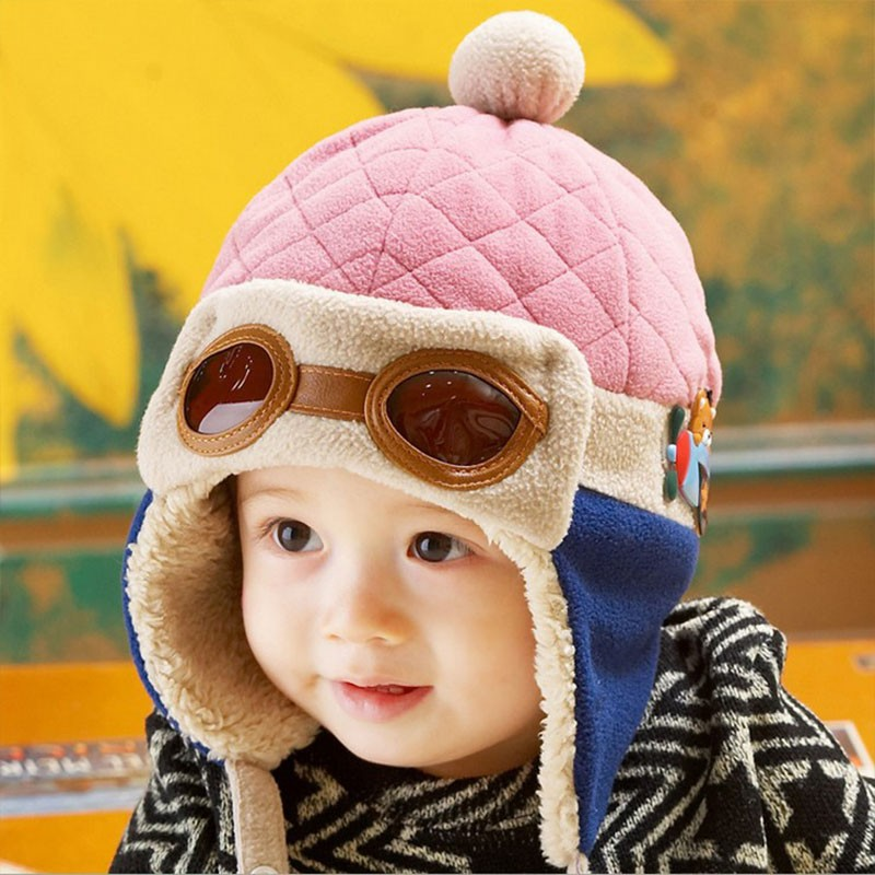 9ac63ea2c17 Infant Warm Plush Cloth Cap Hat Beanie Cool Baby Boy Girl Winter Pilot Bear Caps  Cute Kids Handsome Aviator Toddler Hats. Text. Text. Text. Text. Text. Text