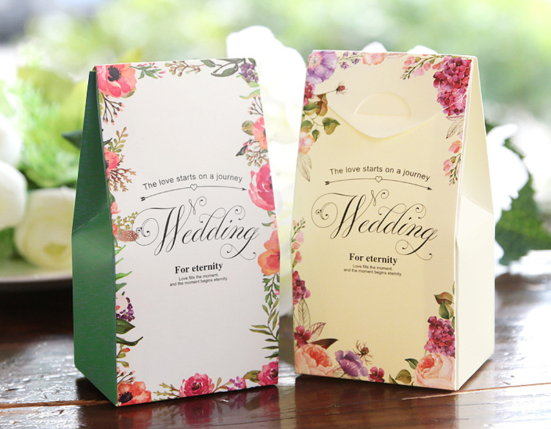 Mareya Trade 100pcslot Creative High End Wedding Cookie Treat Bag