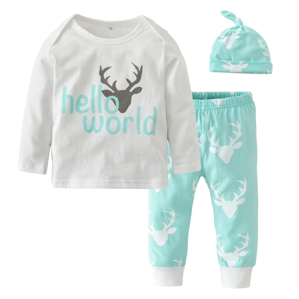 Mareya Trade - Christmas Casual Newborn Baby Boy Girl Clothes Long ...