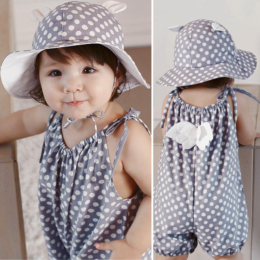 89071a5ad6db Toddler Girls Sun Hat Accessories Baby Summer Cotton Bucket Hat Child Sun  Hat Girls Brim Beach Hat With Wide Brim