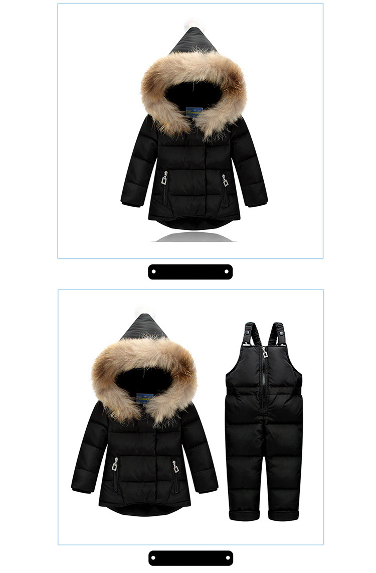 691730a2e Mareya Trade - Down Jacket For Girls Snowsuit Winter Overalls For ...