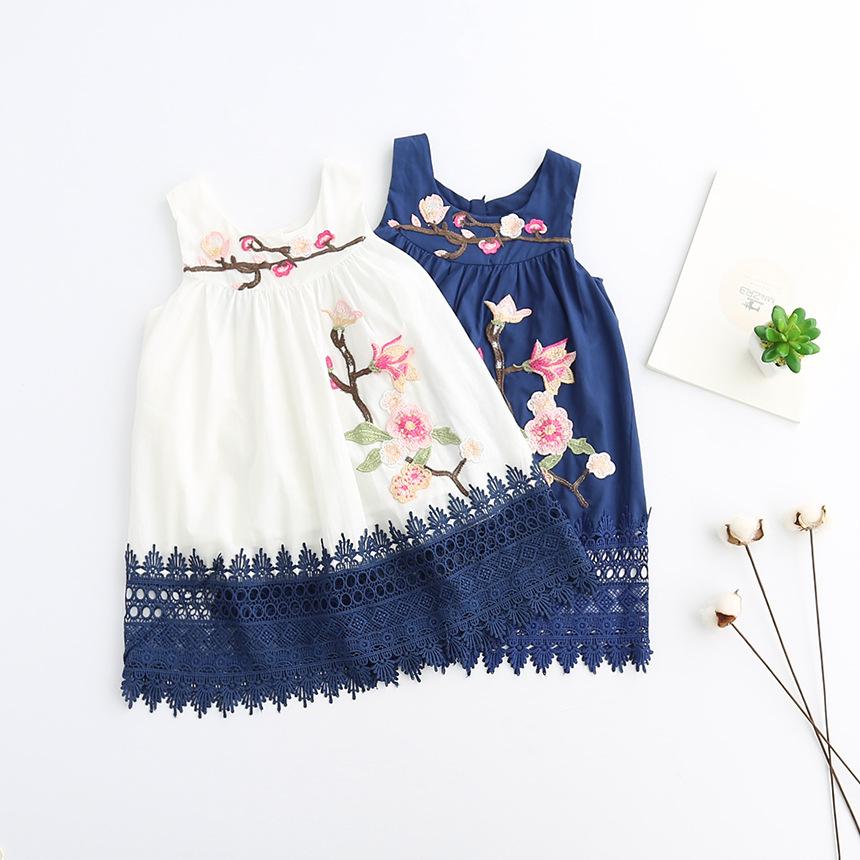Mareya Trade Sodawn 2018girl Flower Embroidery Dress Baby Girl