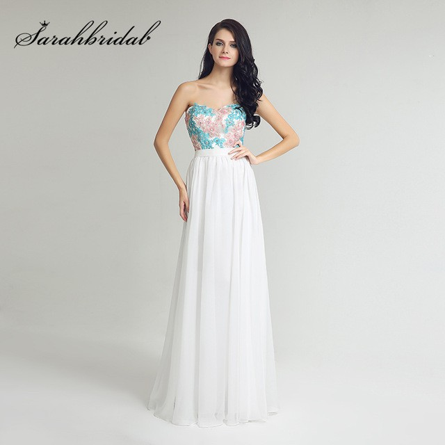 Mareya Trade Cheap In Warehouse Sweetheart Top Lace Appliques Prom