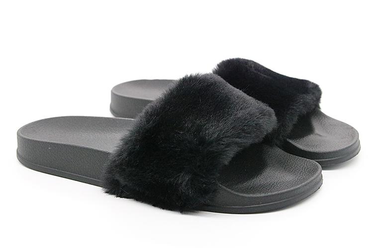 b2707c7ac943f9 Coolsa New Arrivals Autumn Plush Slippers Fluffy Fur Flock Women Slides  Designer Flat Casual Flip Flops ...