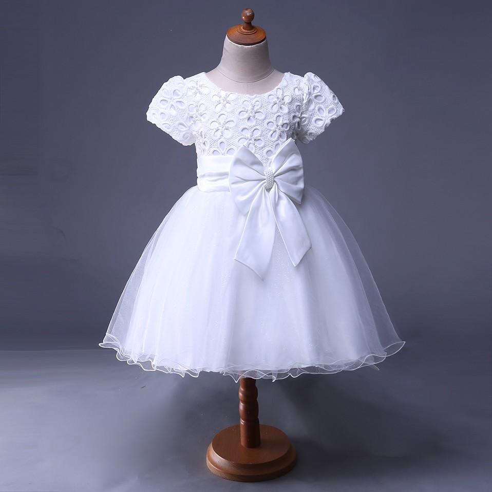 Mareya Trade Cutestyles New Summer Party Dress Little Girls White