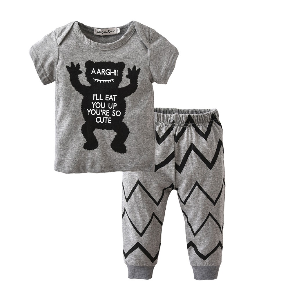 b9e193d64 Mareya Trade - Baby Boy Clothing 2Pcs Set Summer Hot selling Cartoon ...