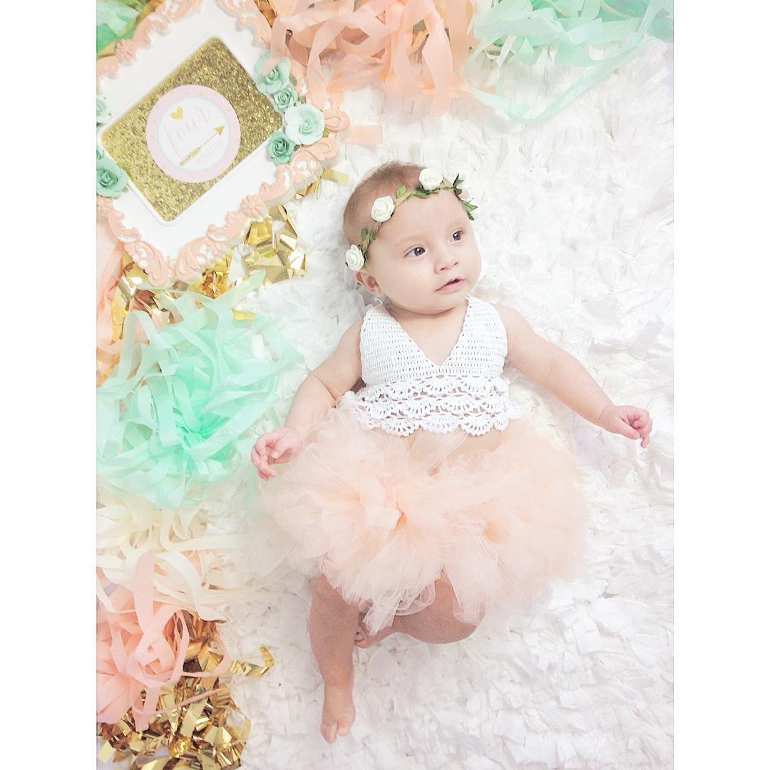 Mareya Trade - Kids Newborn Baby Girl tulle Dress backless wedding ...