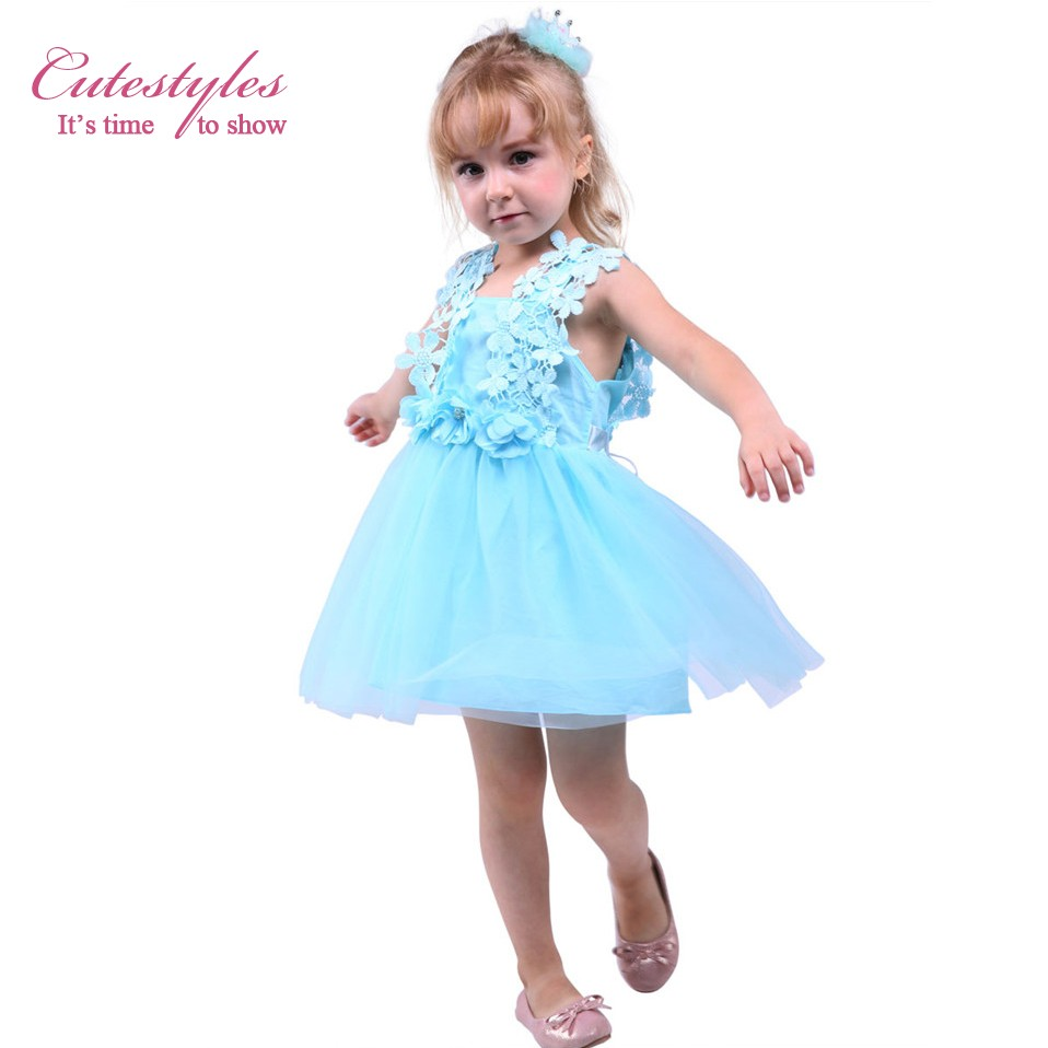 Mareya Trade Cutestyles 3 Colors White Lace Flower Girl Dress Pink