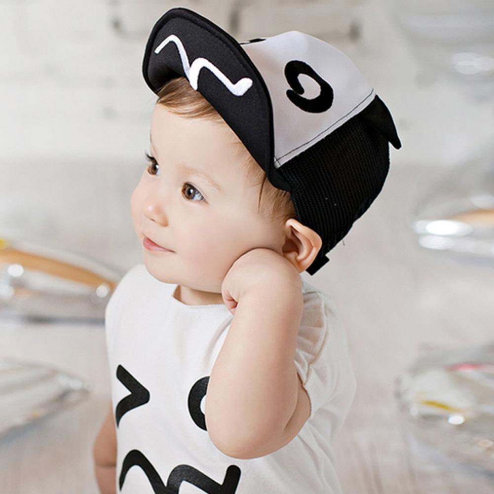 edba9267 baby summer hat White and Black Baby Baseball Hat Baby Hats Baseball Cap  Baby Boy Beret Wave Rivet Outdoor Baseball Sun HatCap