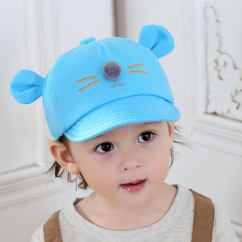 Cute Baby Cap For Toddler Boys Girls Hats Autumn Spring Kids Bear Ear  Baseball Caps Cotton Peaked Hat 3ae74b8d2e74