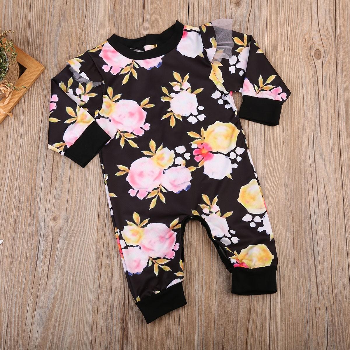 5f0d9e81445e Mareya Trade - USA Kids Baby Girl Boy Floral Romper Jumpsuit Pants ...