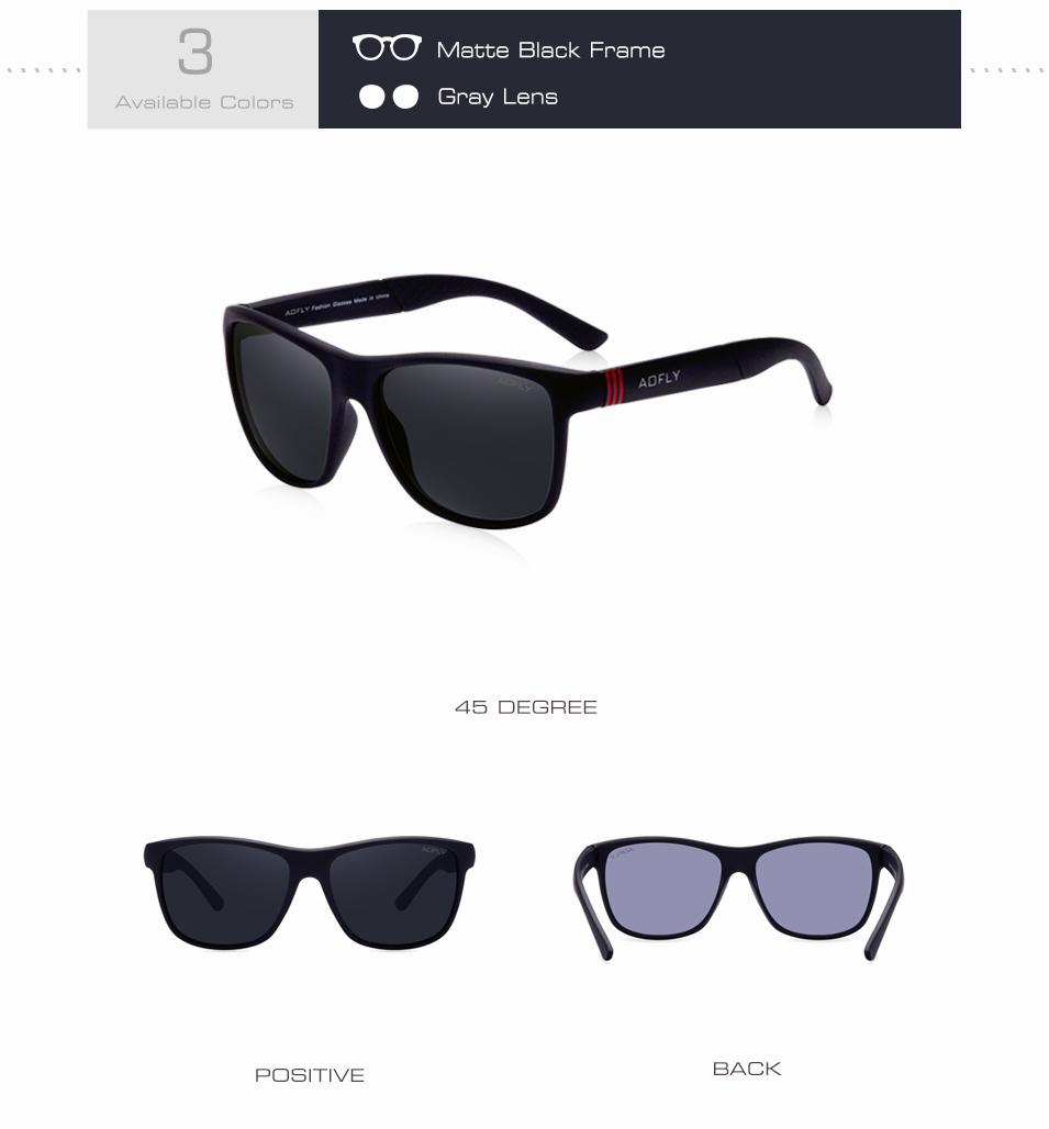 62d38a0ee8c AOFLY Polarized Sunglasses Men Women Original Brand Designer Polaroid  Reflective Mirror Sun Glasses Unisex Goggle gafas de sol