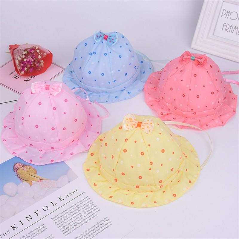 d305e757 Mareya Trade - BalleenShiny Bowknot Sun Hat Baby Girls Dot Princess ...