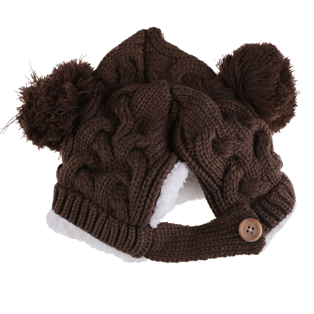 9314048e828 1-4Y Baby Winter Hat Kids Warm Cap Hat Beanie Warm Baby Boy Girl Kids Infant  Winter Caps 5 Colors Children s hats