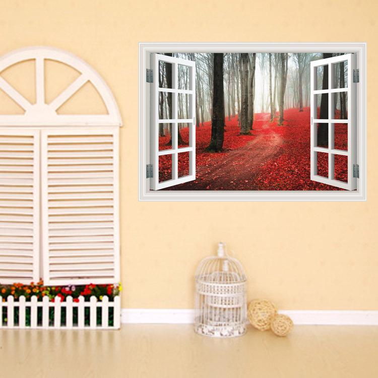 Mareya Trade - Hongye San wood wall stickers fashion personality ...