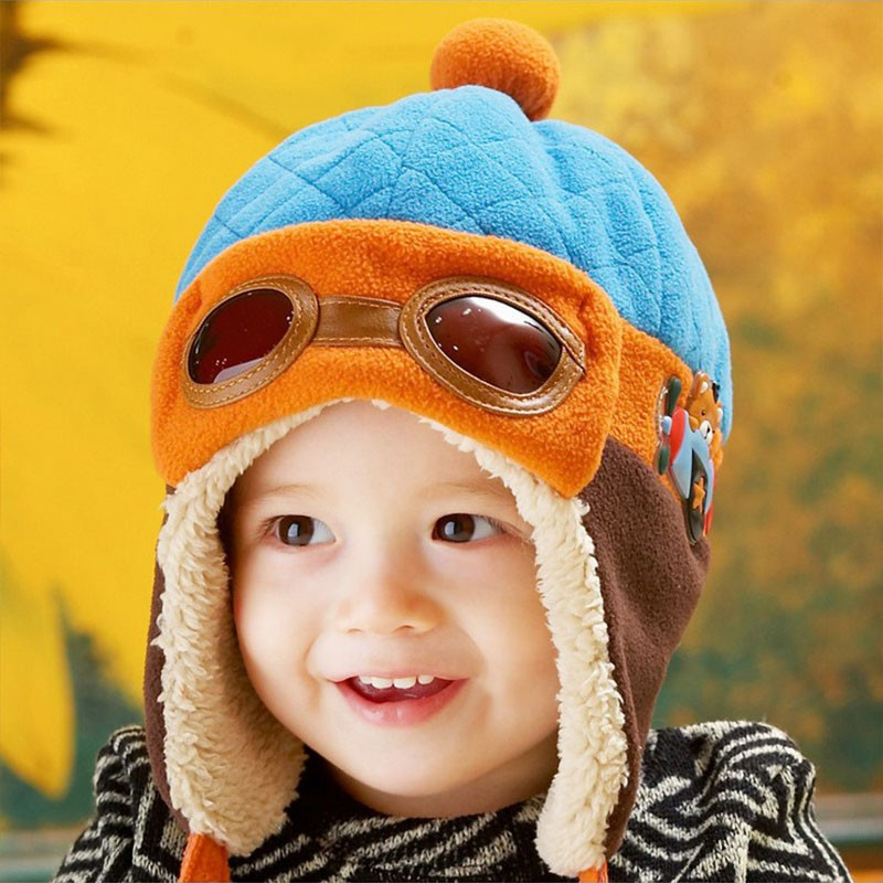 c7977202028 Infant Warm Plush Cloth Cap Hat Beanie Cool Baby Boy Girl Winter Pilot Bear Caps  Cute Kids Handsome Aviator Toddler Hats. Text. Text. Text. Text. Text