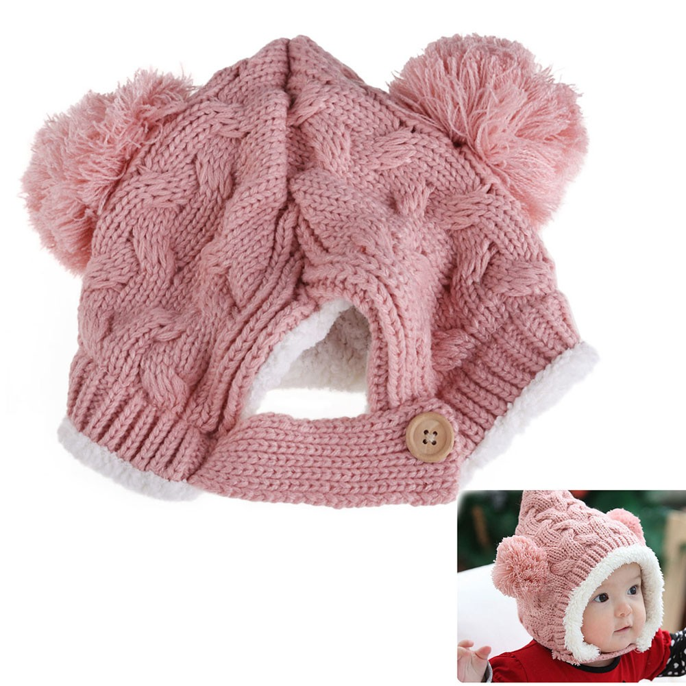 f50b867324f Text. Text. 1-4Y Baby Winter Hat Kids Warm Cap Hat Beanie Warm Baby Boy  Girl Kids Infant Winter Caps 5 Colors Children s hats