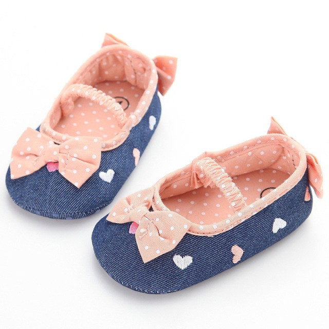 c1e5b929ca3 2018 Cute Shallow Baby Girls Shoes 0 and 1 Year Old Baby Toddler Shoes  Indoor Soft Bottom Anti-slip BB Shoes