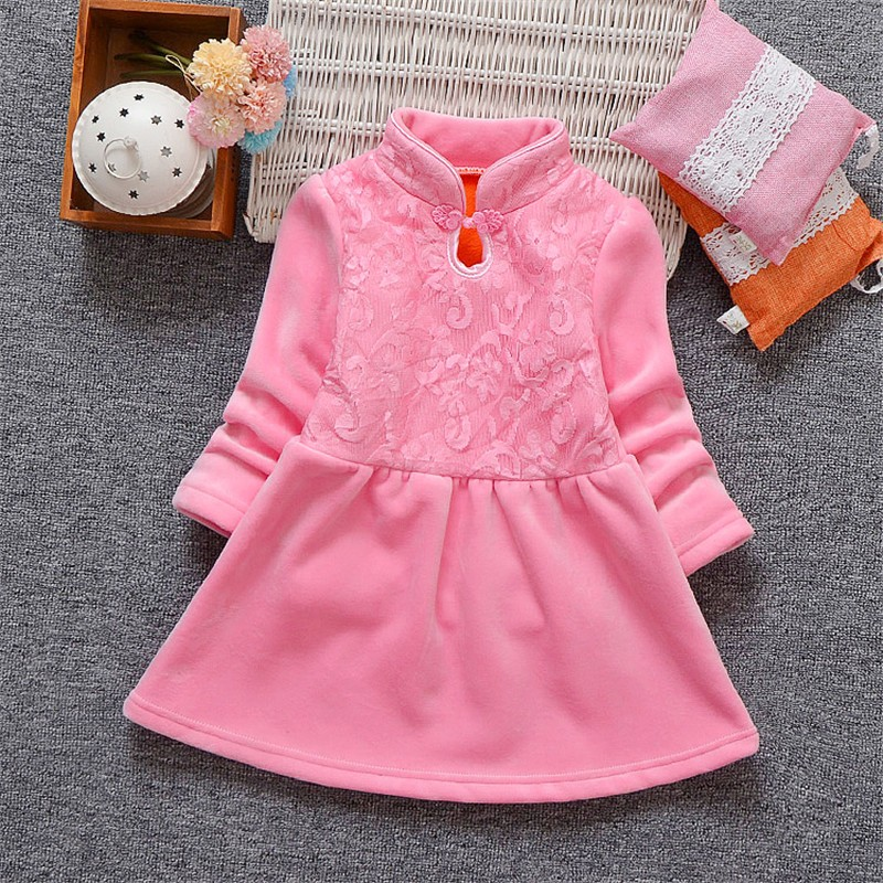 BibiCola Autumn Winter Baby Girl Dress Long Sleeve Baby Girl Princess Dress  2018 New Style Children Girls Fashion Jacquard Dress 7853beca2adc