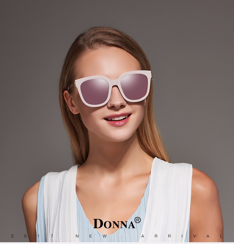 afc69914471a1 Donna Sunglasses Polarized Women Square Mirrored Plastic Frames Sun Glasses  Woman Eyeglasses Oversizded D08