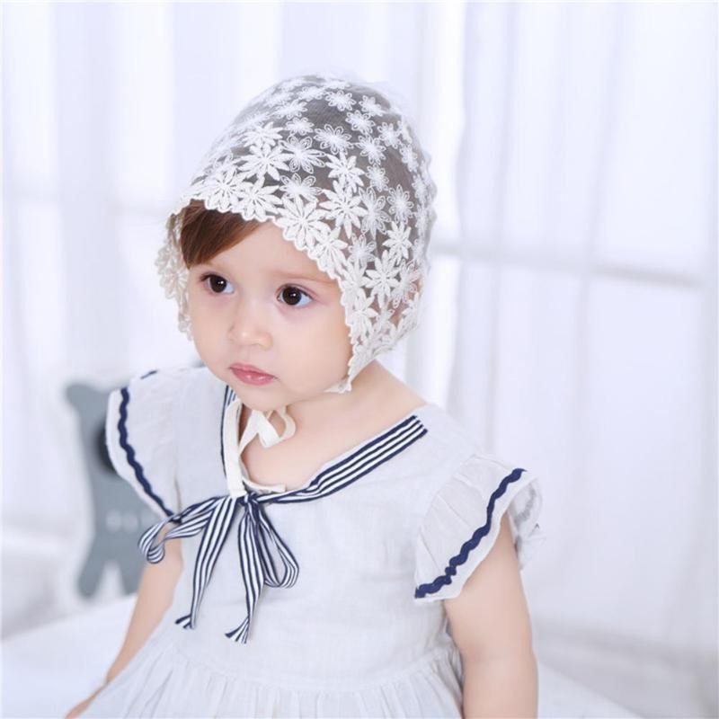 Mareya Trade - Baby Cap Flower Embroidery Princess Lace Hollow Baby ... a072a5c6999e