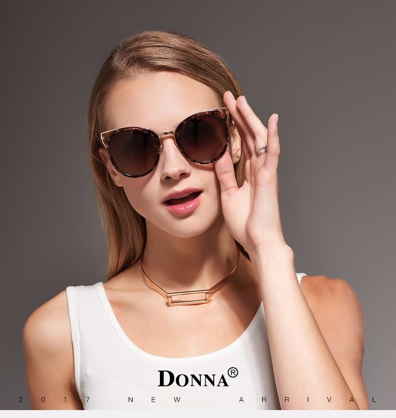 f7bc44c65f0 DONNA Cat Eye Sunglasses Woman Oversize Shades Luxury Brand Designer Sun  Glasses Vintage Retro Unique Legs lunette de soleil D19