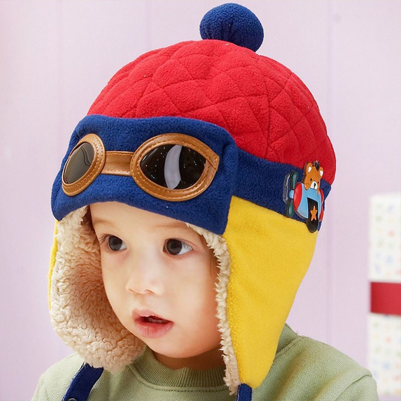 488235fad71 ... Plush Cloth Cap Hat Beanie Cool Baby Boy Girl Winter Pilot Bear Caps  Cute Kids Handsome Aviator Toddler Hats. Text. Text. Text. Text. Text.  Text. Text