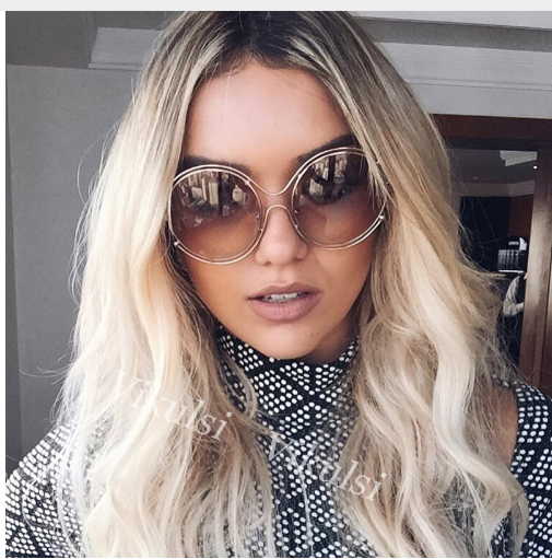 9f45c418dba Mareya Trade - New Fashion Hollow Oversized Big Round Sunglasses ...