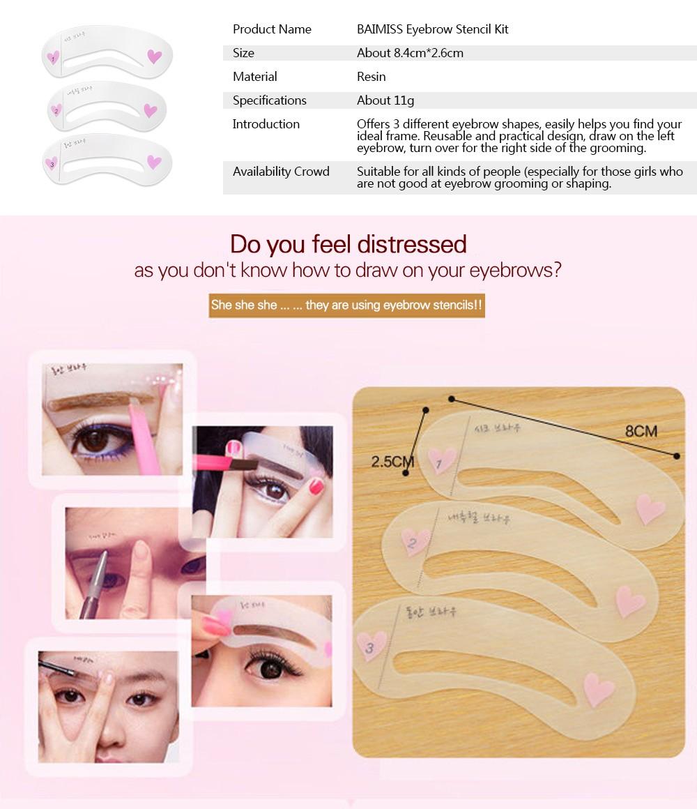 Mareya Trade Womens Fashion Eyebrow Stencils Template Eye Text
