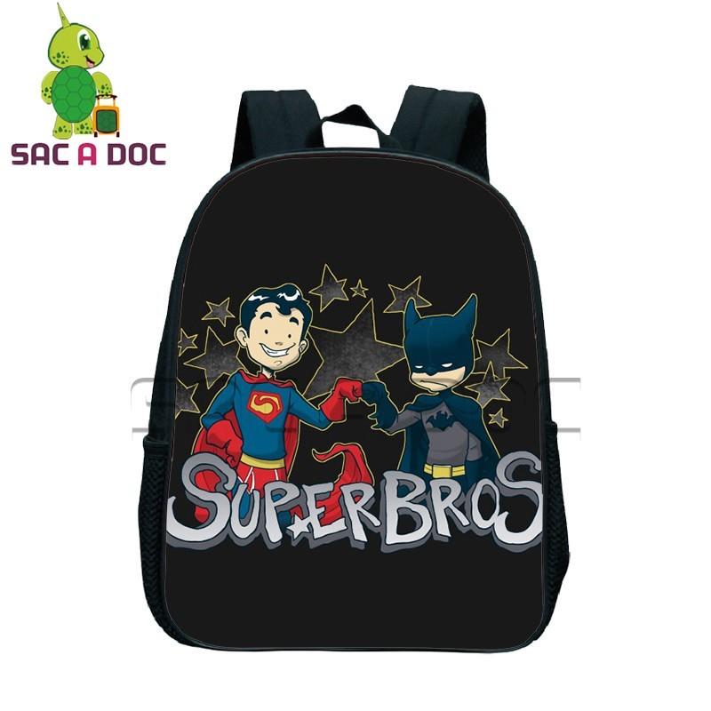 88e2f45796 Chibi Batman Superman Spider-man Printing Backpacks Boys Girls School Bags  Children Super Hero Book Bag Best Gift Bag
