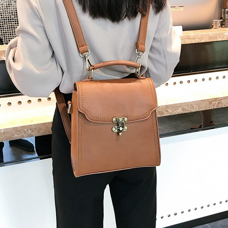 e1cc88db48aee ماريا تريد - حقيبة ظهر جلد مربعة الشكل موديل جديد