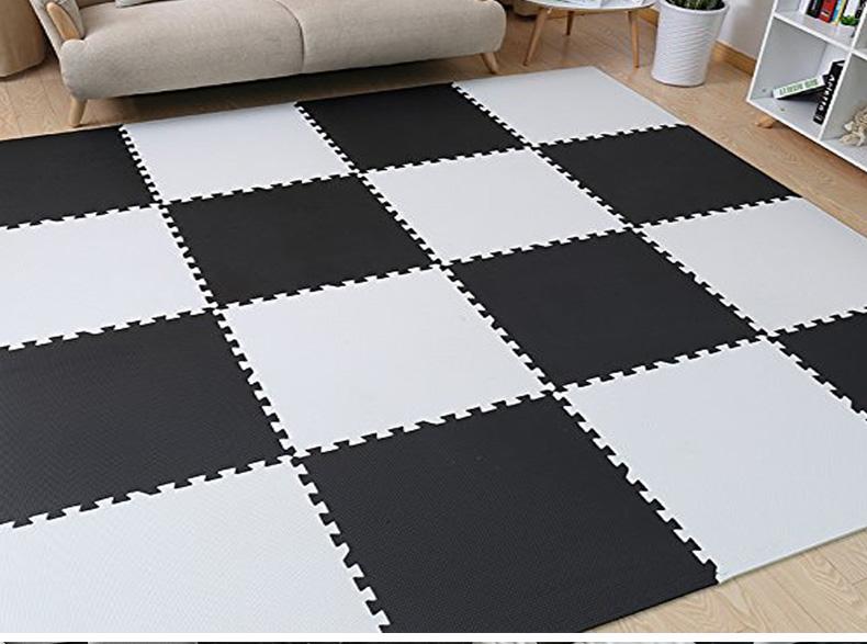 Mareya Trade Meitoku Baby EVA Foam Play Puzzle MatBlack And White - Black and white interlocking floor mats