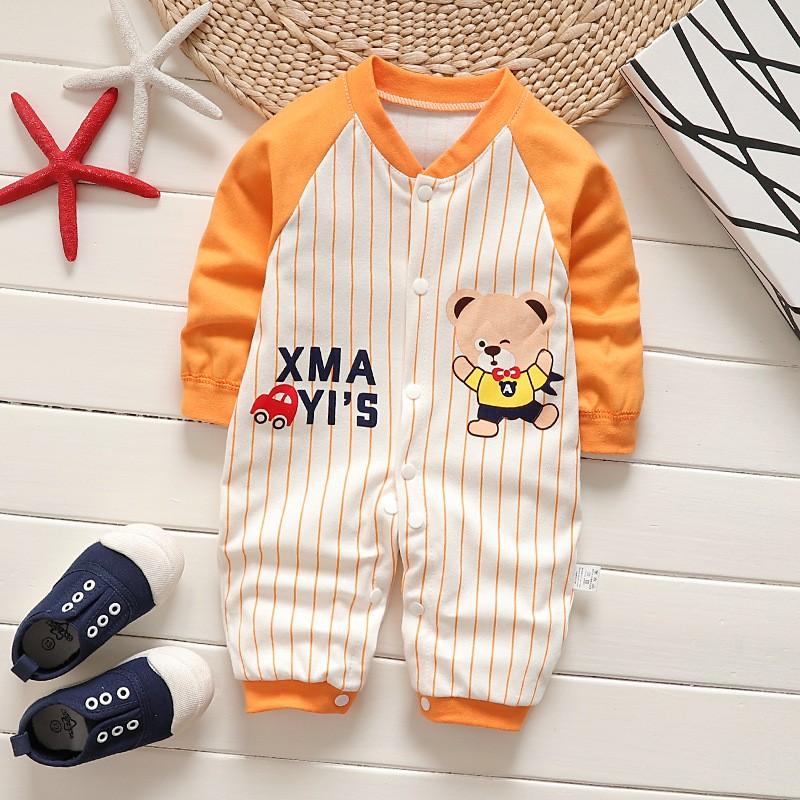 08fec5c006d Newborn Baby Boy Girl Cute Romper Clothes Long Sleeve Infant Product  Jumpsuit Cotton Baby Newborn Clothes Bebe Sport Clothing