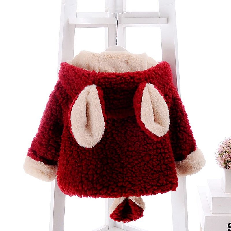 6d00e0ab5a44 Mareya Trade - Baby Girls Winter Coat Faux Fur Fleece Children ...